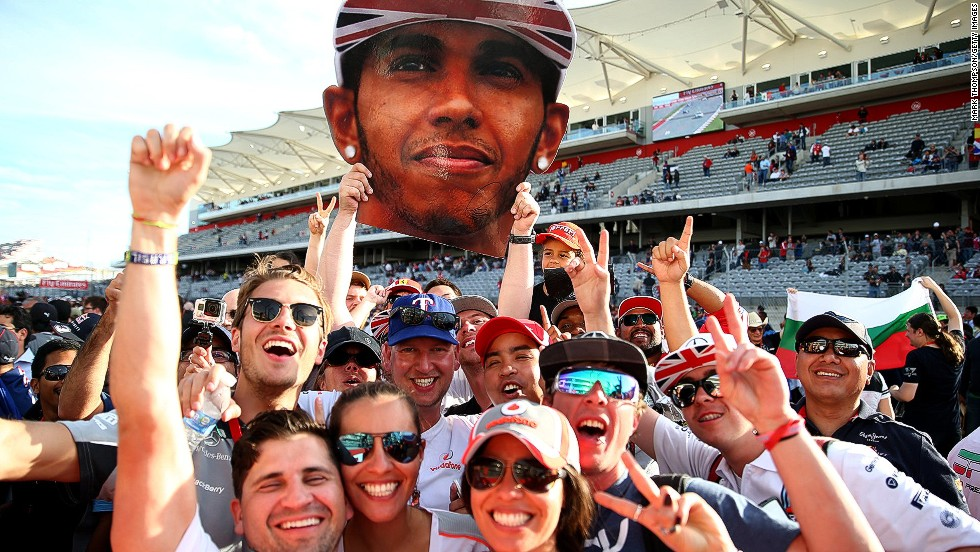 Round 17: Hamilton fans have plenty to cheer about at the U.S. Grand Prix as the 2008 world champion wins his 10th race of the season and fifth in a row.