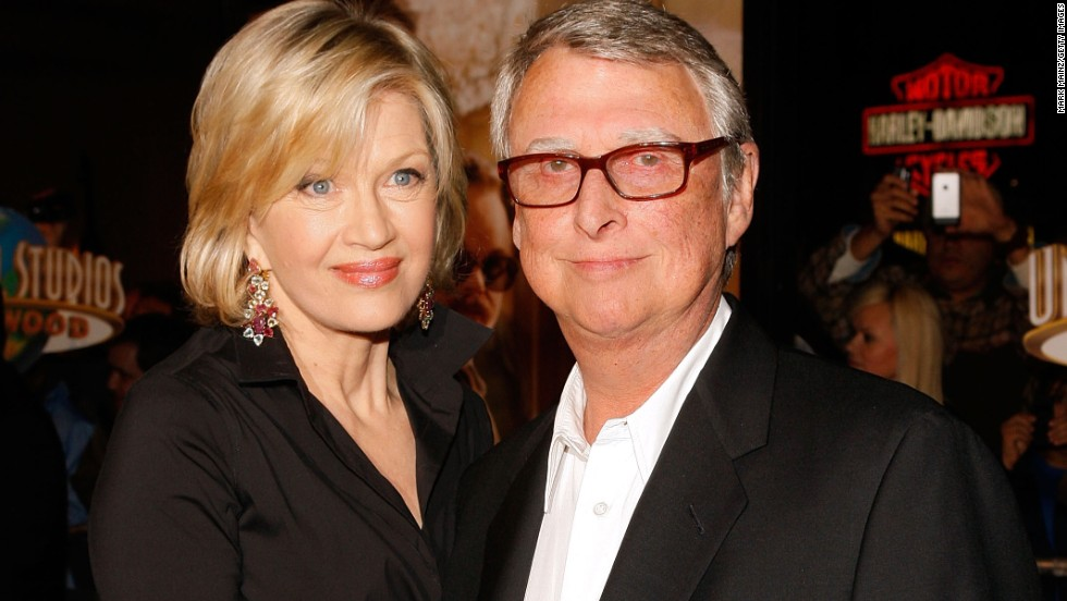 "Acclaimed film director <a href=""http://www.cnn.com/2014/11/20/showbiz/obit-mike-nichols/index.html"">Mike Nichols</a> died on November 19. Nichols, pictured here with his wife, journalist Diane Sawyer, was best known for his films ""The Graduate,"" ""Who's Afraid of Virginia Woolf?"" and ""The Birdcage."" He was 83."