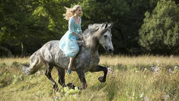 """Lily James stars in """"Cinderella"""" as the titular heroine."""