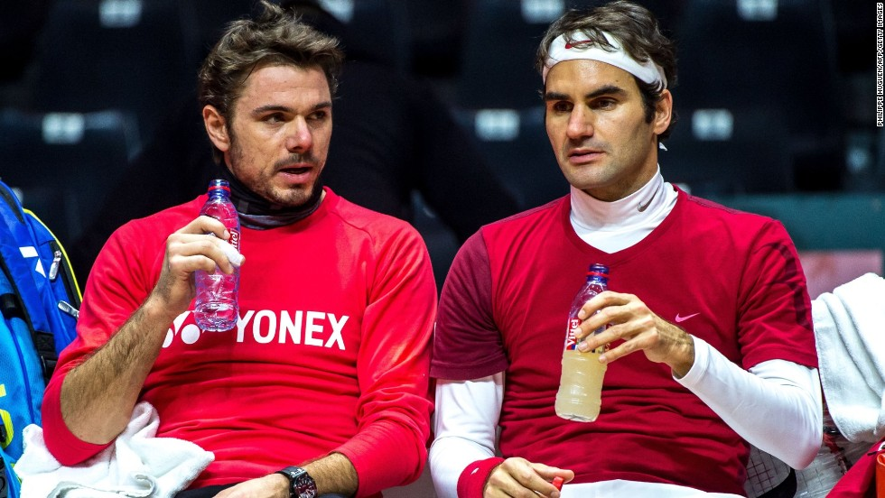 Federer and Wawrinka reportedly had a verbal bust-up Saturday but both said Tuesday any tension was gone. They were on court together Thursday.