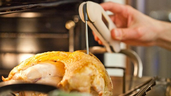 Continue to roast turkey until thickest part of breast registers 160 degrees on instant-read thermometer, about 1 hour longer.