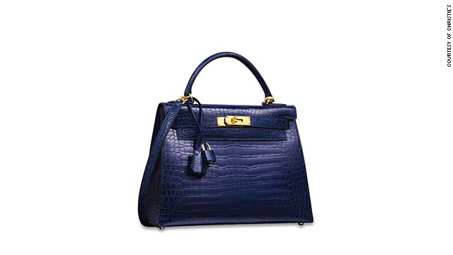 984e1043816 This 1993 Hermes Kelly bag in a rare dark blue shade is estimated to sell  for