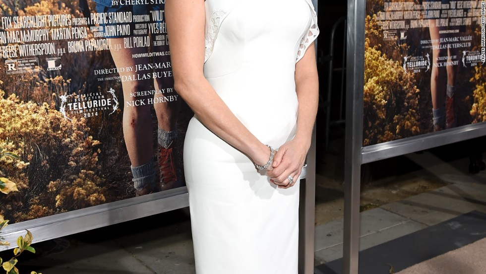 "Reese Witherspoon sticks to classic style at the premiere of her new movie ""Wild"" on November 19."
