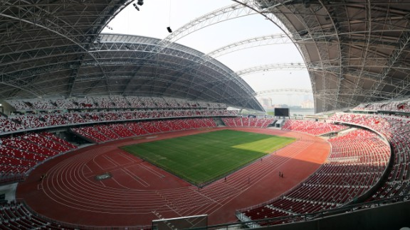 """""""I don't think anyone had really designed a successful stadium for the tropics before,"""" said architect Clive Lewis of Arup Assocites. """"In the past, if they had a tropical rainstorm they pretty much had to cancel the event. And that's where the dome roof concept came from."""""""