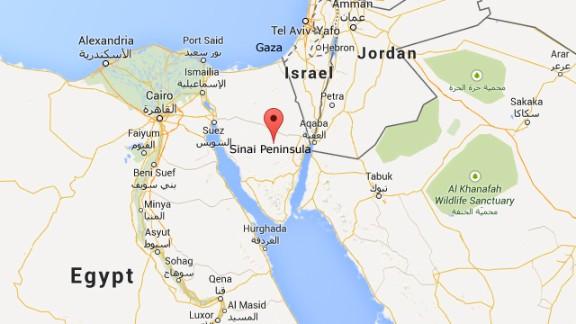 Map: Sinai Peninsula