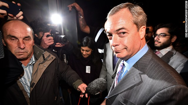 UKIP's Nigel Farage will be reveling in his party's triumph and redoubling efforts to win over Euroskeptic Tories.