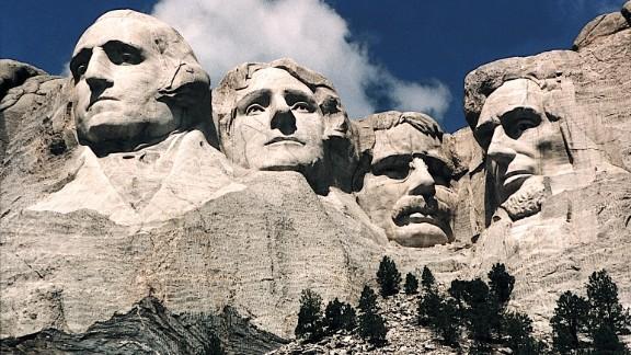 This June 1995 photo shows Mt. Rushmore, in Keystone, South Dakota.