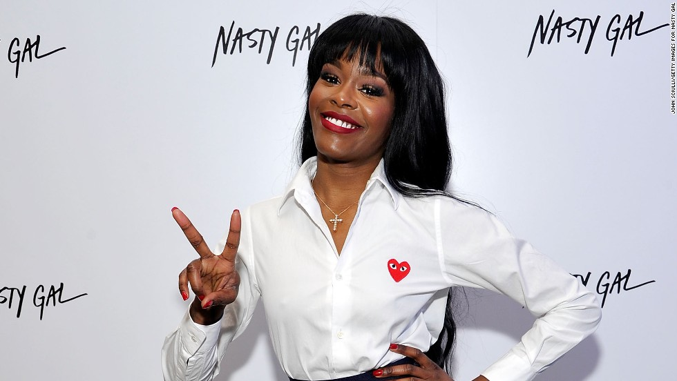 Azealia Banks brings a big smile and plenty of peace to the Nasty Gal Melrose store launch on November 20.