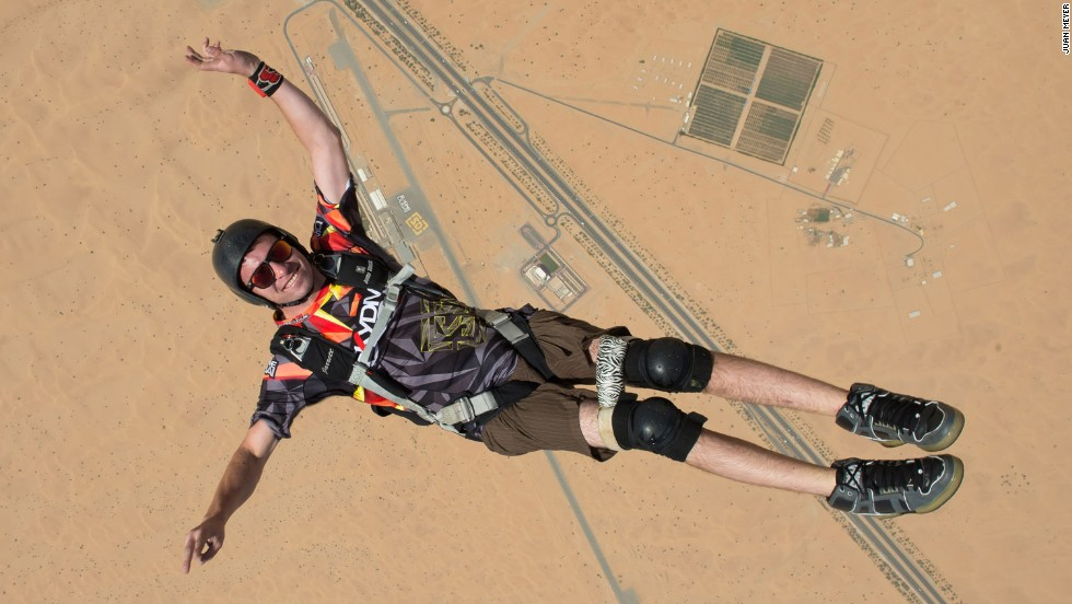 "At age 18, a botched jump left skydiver Jarrett Martin paralyzed from the chest down. That would be enough to sideline most people, but not him. Now 24, <a href=""http://www.cnn.com/2014/11/24/travel/dubai-disabled-skydiver/"">Martin competes in frequent skydiving events</a> in Dubai and elsewhere. Earlier this year he completed 11 BASE jumps (from a fixed structure or cliff) in Norway, becoming the first disabled person to successfully make such a leap unassisted."