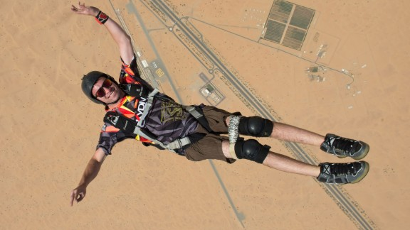 At age 18, a botched jump left skydiver Jarrett Martin paralyzed from the chest down. That would be enough to sideline most people, but not him. Now 24, Martin competes in frequent skydiving events in Dubai and elsewhere. Earlier this year he completed 11 BASE jumps (from a fixed structure or cliff) in Norway, becoming the first disabled person to successfully make such a leap unassisted.