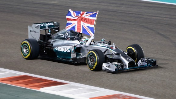 Round 19: Hamilton passes Rosberg at the start of the final race in Abu Dhabi and there is more misery for the German when his engine loses power. The Briton takes the win and with it a second world title.