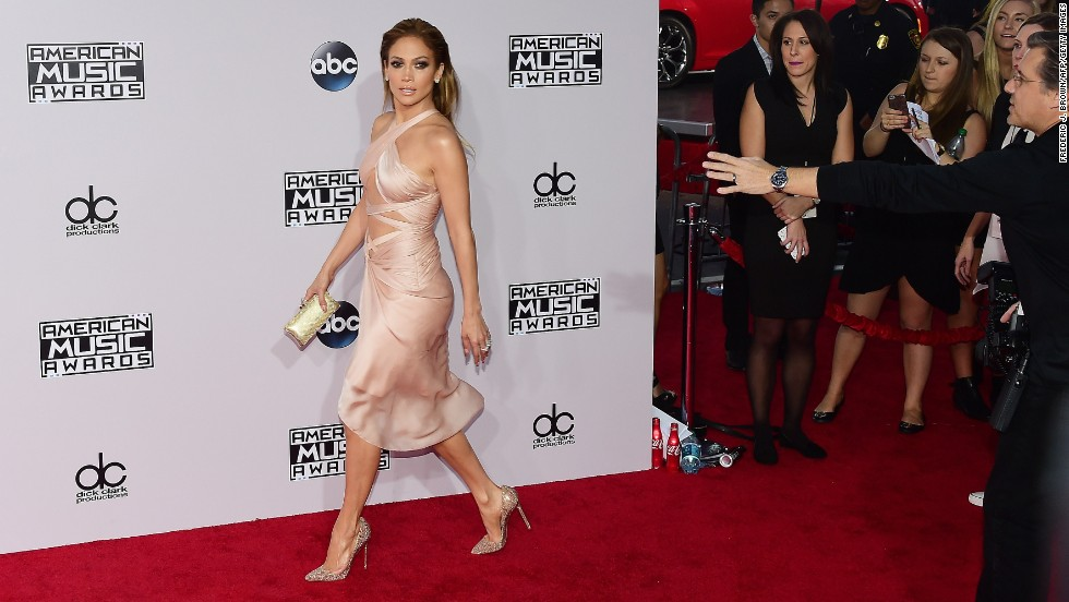 Before the 2014 American Music Awards kicked off, the stars shined on the red carpet. Here, Jennifer Lopez attends the ceremony at Nokia Theatre L.A. Live on November 23 in Los Angeles. Here's who else arrived: