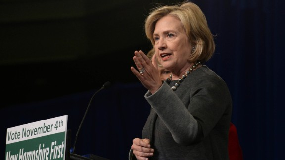 Former Secretary of State Hillary Clinton lauded President Barack Obama's moves to ease diplomatic strains with Cuba on Wednesday.