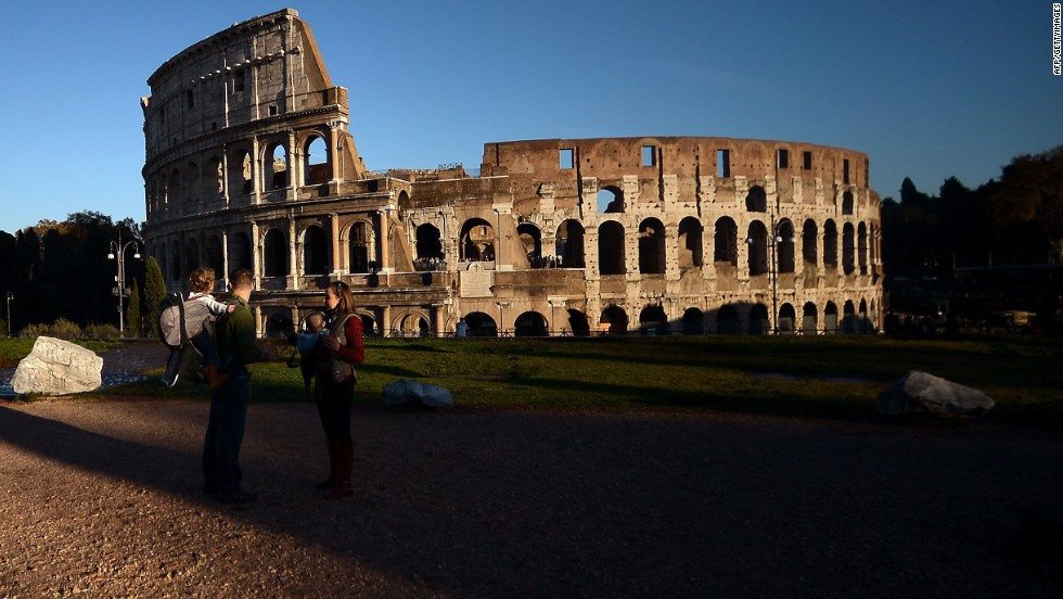 Authorities in Rome slapped a €20,000 fine on a Russian tourist caught carving his name into the Colosseum.