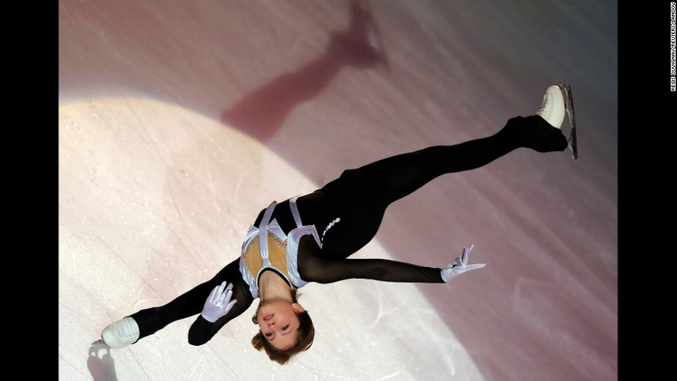 European champion Julia Lipnitskaya performs during the gala exhibition at the Bompard Trophy Figure Skating event held Sunday, November 23, in Bordeaux, France.