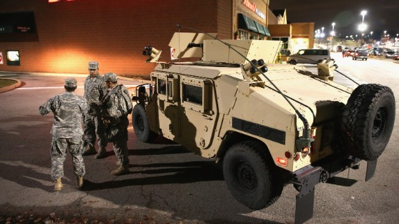 National Guard troops arrive ahead of the grand jury announcement.