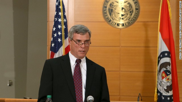 NOVEMBER 24: St. Louis County Prosecutor Robert McCulloch announces the grand jury's decision not to indict Ferguson police officer Darren Wilson in the shooting death of Michael Brown on November 24, 2014, at the Buzz Westfall Justice Center in Clayton, Missouri. Ferguson has been struggling to return to normal after Brown, an 18-year-old black man, was killed by Darren Wilson, a white Ferguson police officer, on August 9. His death has sparked months of sometimes violent protests in Ferguson. (Photo by Cristina Fletes-Boutte-Pool/Getty Images)