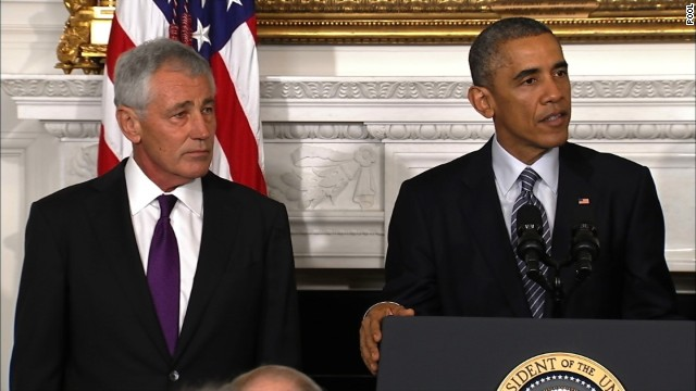 President Barack Obama announced Monday that Defense Secretary Chuck Hagel will step down from his position as soon as the Senate confirms a successor.