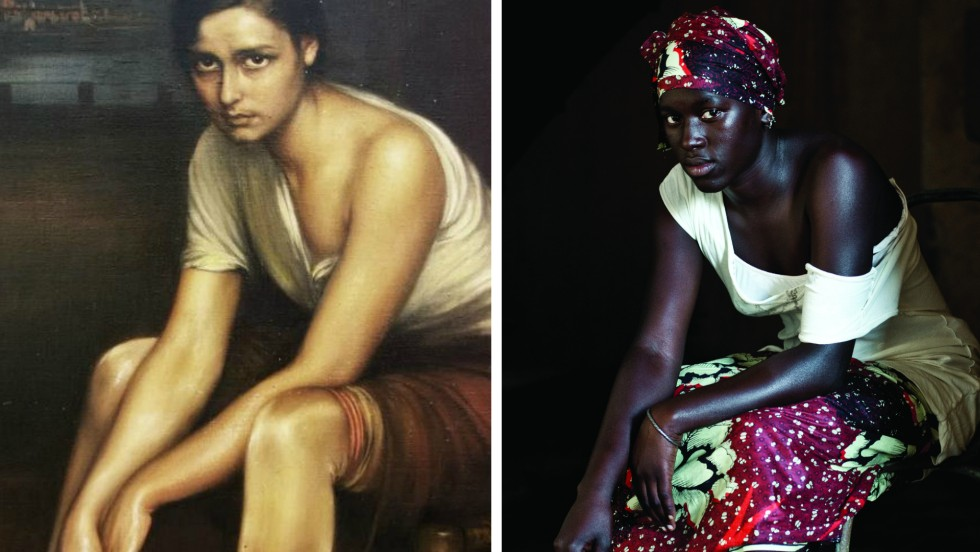 Two cultures unite as photographer Javier Hirschfeld captures Senegalese locals in a style inspired by Spanish painter Julio Romero de Torres. Poised, elegant and striking, Hirschfeld adopts a painterly aesthetic to recreate the painter's most famous works.