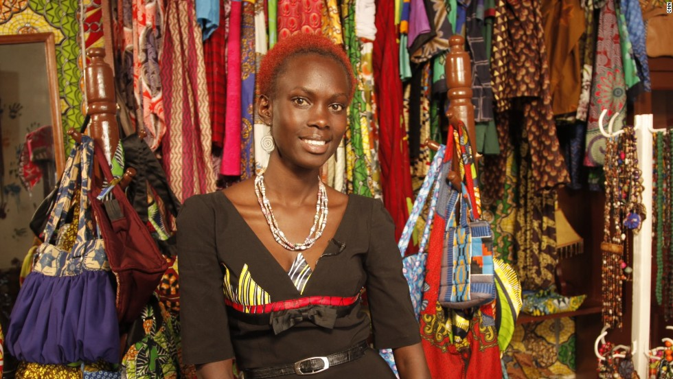 Christine Mbabzi started designing clothes in her bedroom in Rwanda. In March 2014 she made her dream of owning her own store a reality.