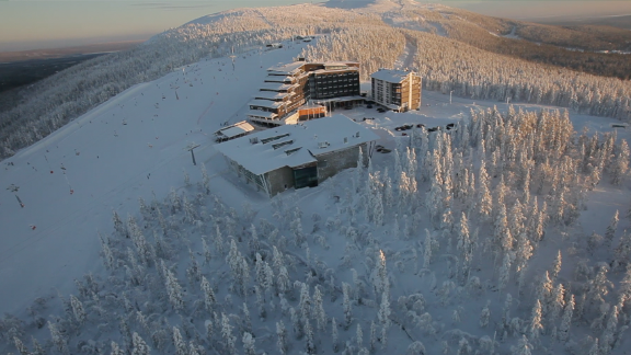 Kittila ski resort sits in the northern region of Norway, an area of Lapland known for reindeers, skiing and freezing cold temperatures much of the year.