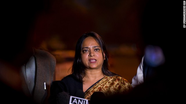 Central Bureau of Investigation (CBI) spokeswoman Kanchan Prasad speaks to journalists in New Delhi, India, Thursday, Nov. 27, 2014. India's top federal investigative agency said Thursday that the two teenage girls believed to have been raped and hanged by their attackers six months ago in a north Indian village actually committed suicide. The local police's probe and post-mortem reports were both faulty and wrong persons were arrested, said Prasad.