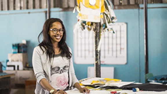 """Kgatlhanye says: """"We looked around in our community and there was nothing that excited us. So for us it was a challenge to say 'If there's nothing in Rustenburg that we want to be a part of as young people, we can actually do something about it and register our company.' So we did exactly that -- do remarkable work that will involve other young people and make a difference."""""""