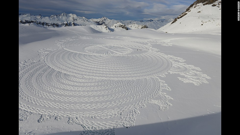 Stunning Geometric Shapes Appear In Snow Cnn Style