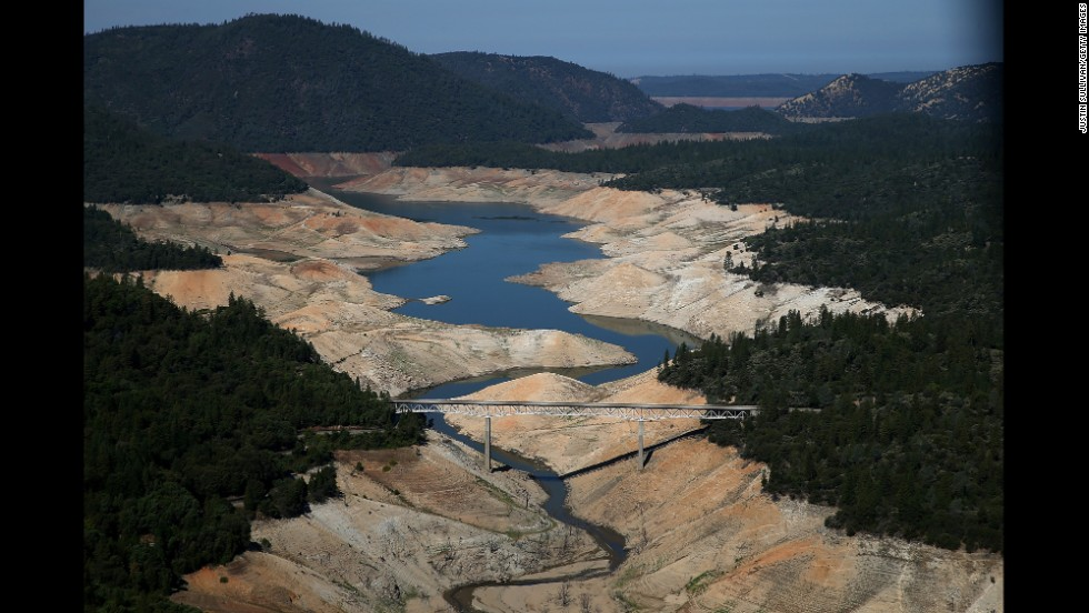 "<strong>August 19: </strong>A section of California's Lake Oroville is nearly dry after <a href=""http://www.cnn.com/2014/07/17/us/gallery/california-drought/index.html"">one of the state's worst droughts in decades.</a>"
