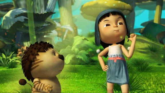 """""""Ava & Lala"""" (2014): An energetic little girl joins forces with an animal named Lala to battle evil forces in this magical film. (Netflix)"""