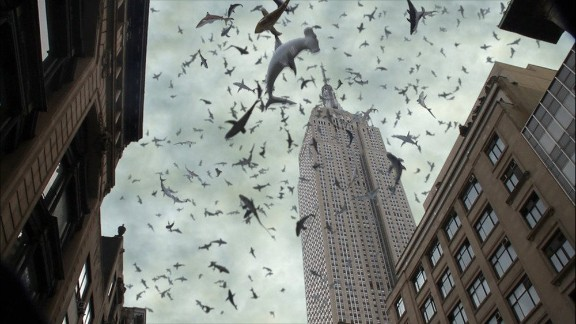 """""""Sharknado 2: The Second One"""" (2014): The sequel to the wildly popular Syfy TV movie finds a freak storm of sharks attacking the Big Apple. (Netflix)"""