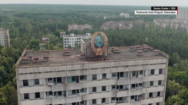 Chernobyl devastation seen from above