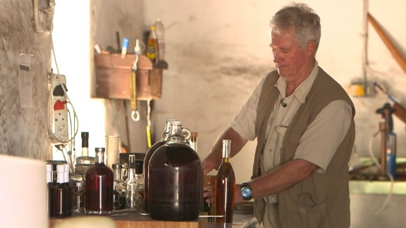 """Independent spirits producer Roger Jorgensen makes gin, absinthe and vodka. He says the Western Cape is """"like a growth paradise"""" when it comes to aromatic plants and herbs."""