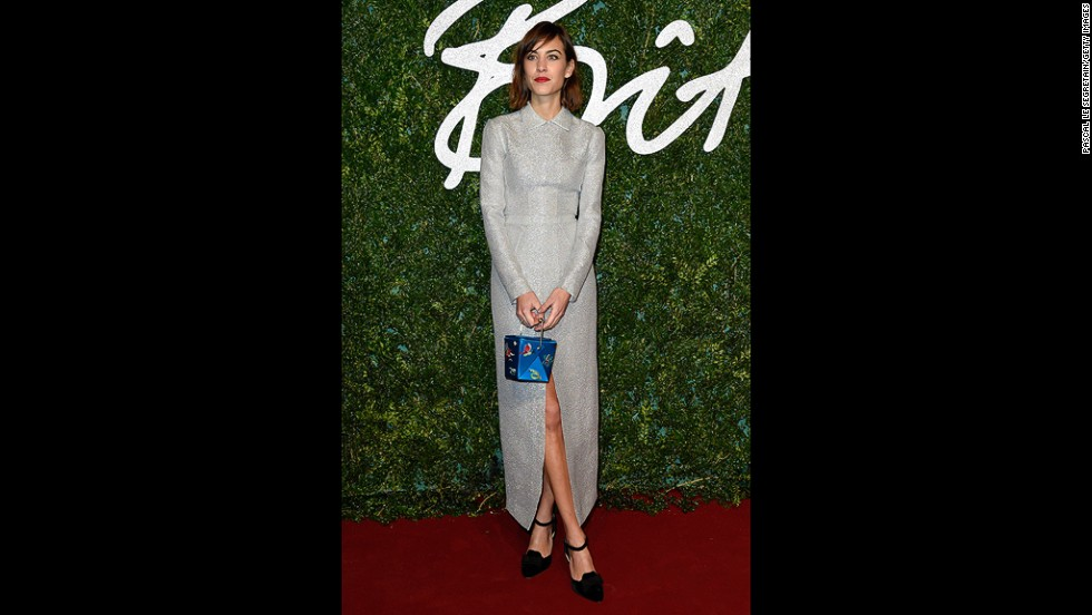 Professional It girl Alexa Chung wore a more conservative dress from Emilia Wickstead. Though attending on official business this year (Chung is a British Fashion Council ambassador), Chung is no stranger to the ceremonies, having won the British Style Award three years in a row from 2010 to 2012.