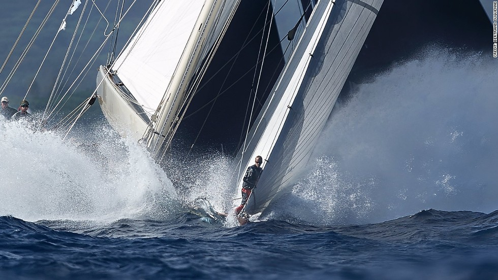 Racing at the Voiles de Saint-Tropez provided Bertrand Duquenne with this stunning image.