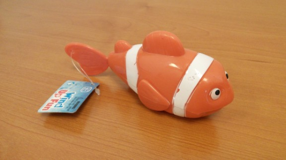 U.S. PIRG Education Fund recently released its annual survey of toy safety. It found among the toys it surveyed this year numerous choking hazards and five toys with concentrations of toxics exceeding federal standards.The study found that the fin on this Wind Up Fun fish can break off and can become a choking hazard.
