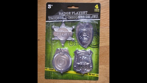 """This Badge Playset has a sheriff's star and a """"special police"""" badge that contains lead that is considered above the legal coatings limit. That means a child could suffer from lead poisoning if they were to put the badge in their mouth."""