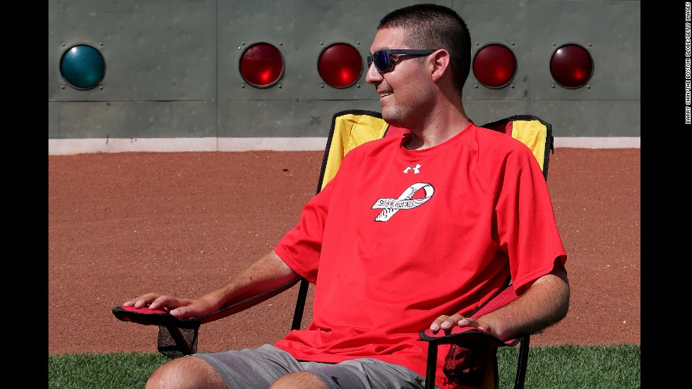 "Former Boston College baseball captain Pete Frates suffers from ALS, the degenerative disease that affects the brain, and can no longer walk or speak. But he's no quitter. With the help of his family Frates inspired the ALS Ice Bucket Challenge movement <a href=""http://www.cnn.com/2014/08/13/tech/ice-bucket-challenge/"">that swept Facebook in August</a> and raised more than $100 million to fight the disease."
