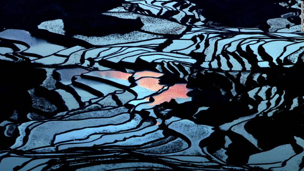 "<strong>March 19:</strong> The terraced fields of southwest China's Yunnan province. UNESCO's World Heritage Committee added the <a href=""http://whc.unesco.org/en/list/1111"" target=""_blank"">Cultural Landscape of Honghe Hani Rice Terraces</a> to the prestigious World Heritage List last year."