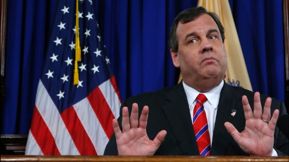 """New Jersey Governor Chris Christie reacts to a question during a news conference in Trenton, New Jersey March 28, 2014. Governor Chris Christie on Friday said the chairman of the Port Authority of New York and New Jersey had resigned, a day after an internal investigation cleared Christie in the """"Bridgegate"""" scandal embroiling the potential 2016 Republican presidential contender."""