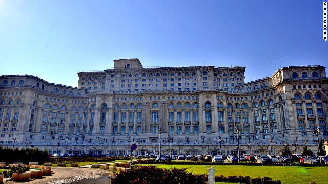 The Palace of the Parliament, built by former Romanian dictator Nicolae Ceausescu.