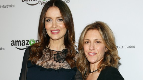 """""""Agents of S.H.I.E.L.D."""" actress Saffron Burrows, left, revealed in an interview with The Guardian that she eloped with her longtime girlfriend, """"Ellen DeGeneres Show"""" writer Alison Balian, in August 2014."""