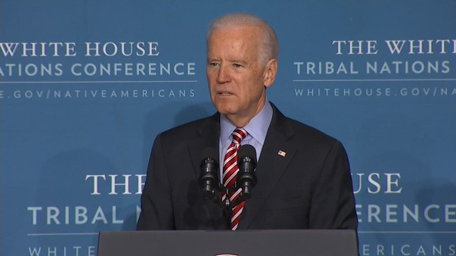 Vice President Joe Biden had tough words for Russian President Vladimir Putin.