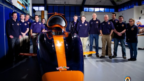 The UK-based team will have worked on the supersonic car for almost 10 years when they make the attempt. The car will cover a mile in 3.6 seconds -- equivalent to 4.5 football pitches laid end to end every second.