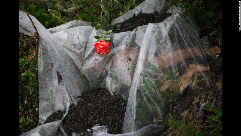 "<strong>July 18:</strong> A rose lies on a plastic sheet covering a victim of <a href=""http://www.cnn.com/2014/07/18/world/gallery/malaysia-airlines-reaction/index.html"">Malaysia Airlines Flight 17,</a> which was shot down over war-torn eastern Ukraine. All 298 people aboard the flight were killed. Several Western nations and the Ukrainian government <a href=""http://www.cnn.com/2014/11/16/world/europe/netherlands-ukraine-mh17-wreckage/index.html"">have accused pro-Russian rebels</a> of shooting down the plane with a missile. Rebel leaders and the Russian government have disputed the claims."