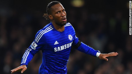 Didier Drogba, starting in place of the suspended Diego Costa, netted Chelsea's second of the game.