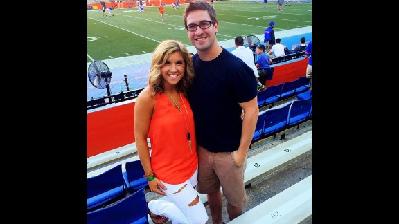 """Repeat after us: Football games are not the place to wear heels. Besides being uncomfortable, they scream """"trying too hard,"""" said University of Florida fan Abbey King, left. """"You can achieve a classy/casual look without them, and stay comfortable throughout the entire day,"""" she said."""