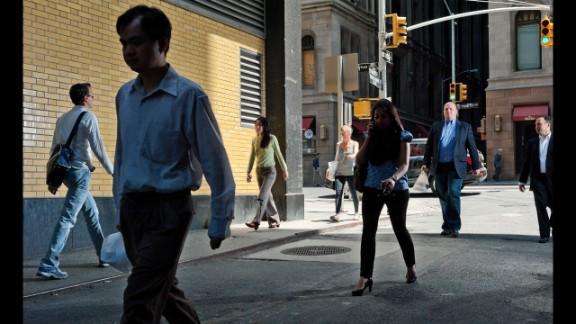 Shady sidewalks in New York.
