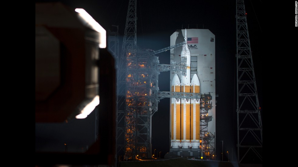 "NASA's Orion spacecraft is mounted atop a rocket Thursday, December 4, at Cape Canaveral, Florida. <a href=""http://www.cnn.com/2014/12/04/tech/innovation/nasa-orion-launch/index.html"">The launch of Orion</a> -- a craft designed to eventually explore deep space -- is to be one of NASA's biggest moments since the shuttle era ended in 2011."