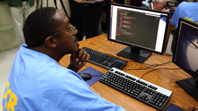 Learning to code from a jail cell